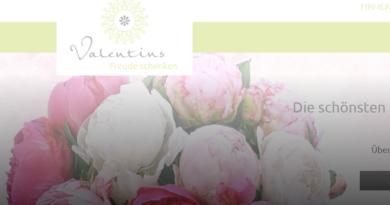 Valentins Blumen Online-Shop